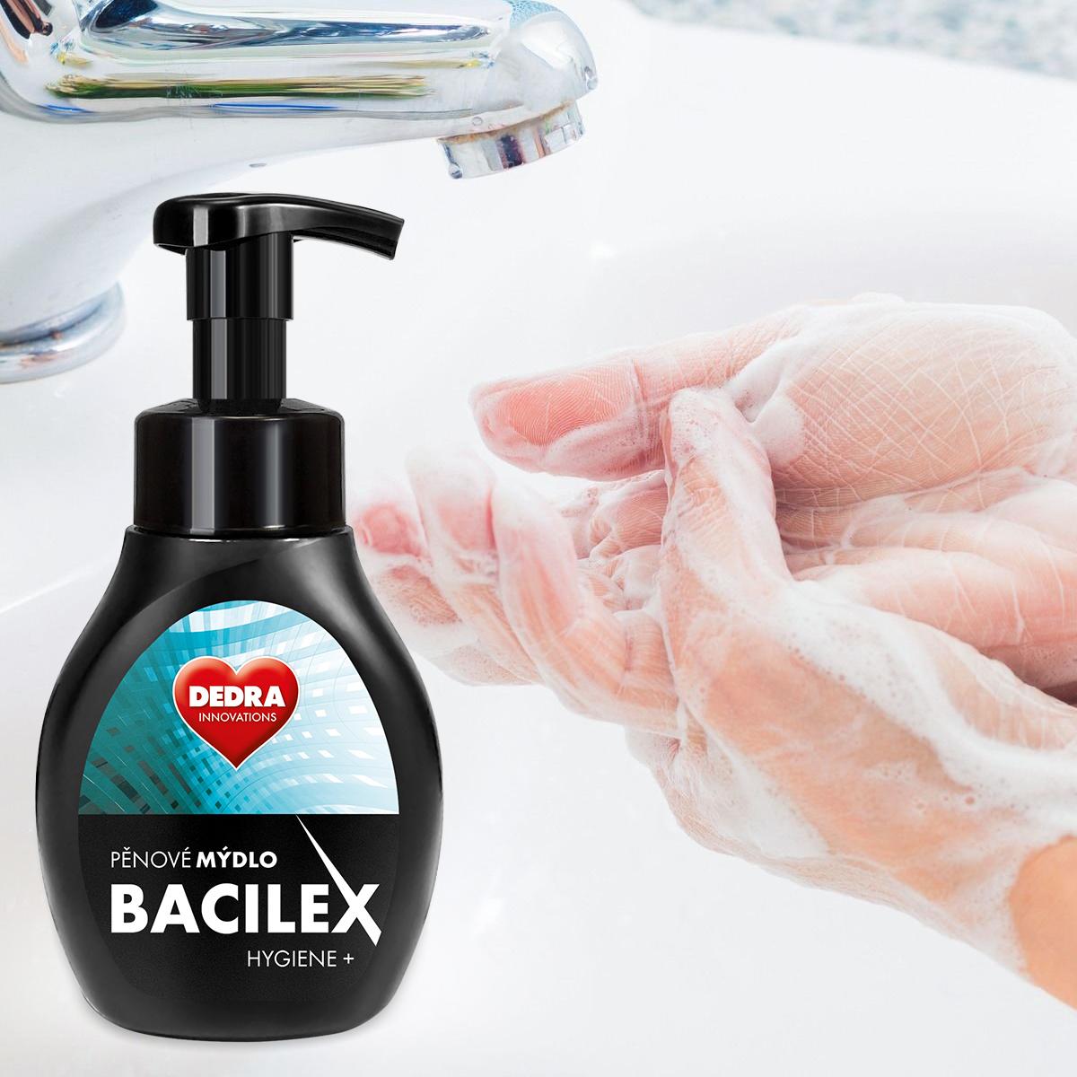 Pěnové mýdlo s antimikrobiální přísadou, 300 ml, BACILEX® HYGIENE+