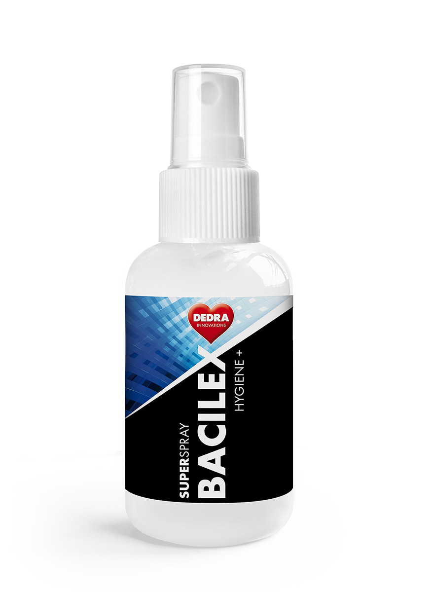 70% desinfekční kapesní superčistič hladkých ploch SUPERSPRAY BACILEX HYGIENE+ 50 ml