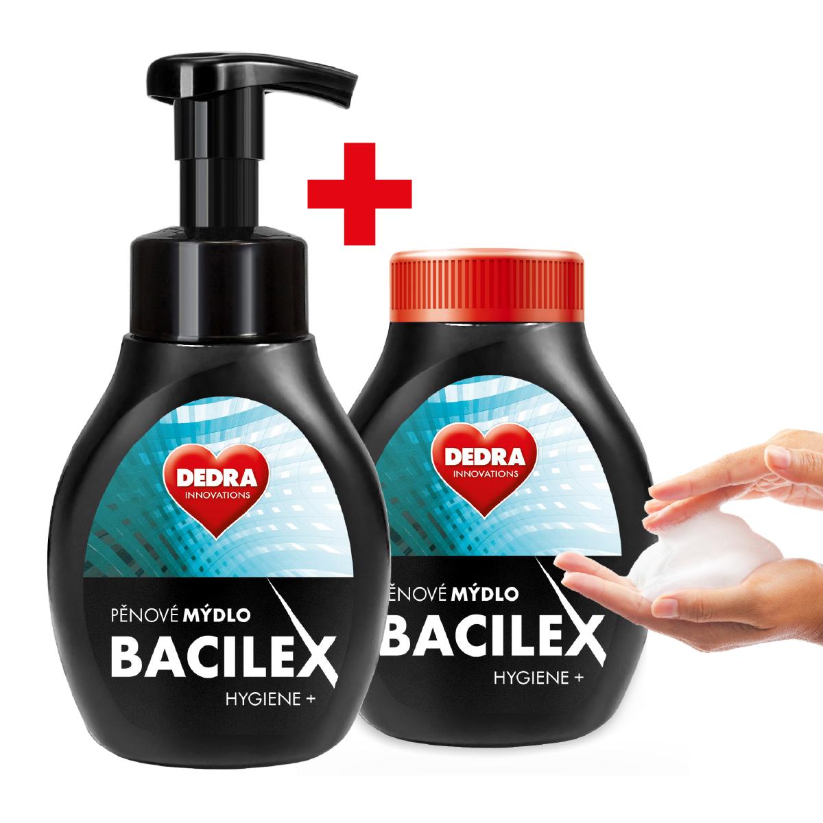 SADA 1+1 pěnové mýdlo s antibakteriální přísadou BACILEX HYGIENE+