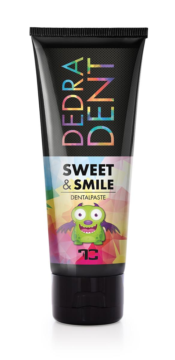 1 ks přírodní dětská zubní pasta SWEET & SMILE pro ochranu mléčných zubů, se žvýkačkovou příchutí, DEDRA DENT