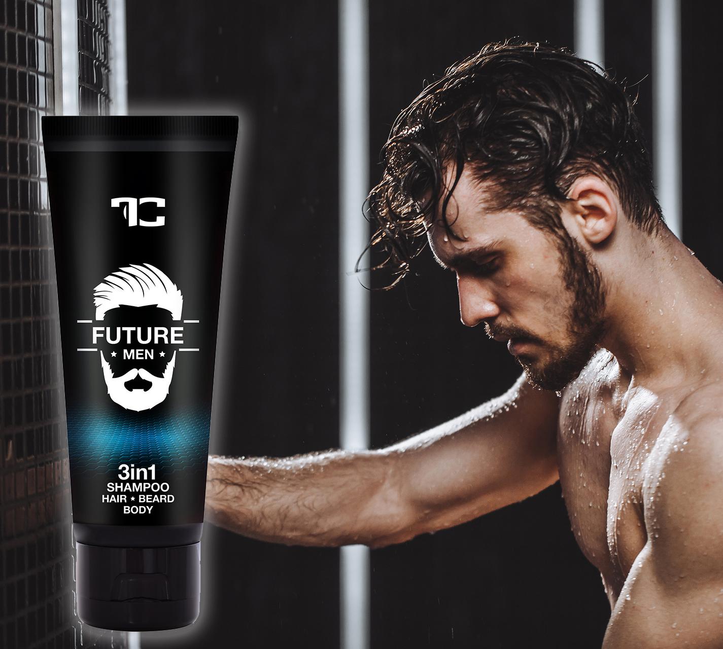 3v1 šampon pro muže na vlasy, tělo a vousy FUTURE MEN® PLATINUM