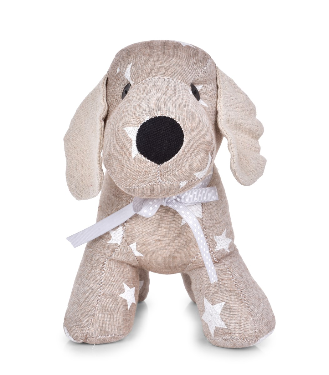 Dveřní textilní zarážka ve tvaru psa