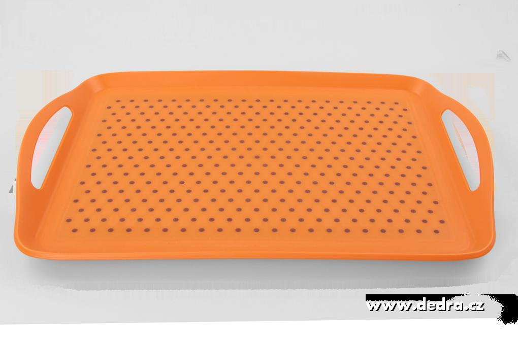 Podnos ANTISKLUZ oranžový
