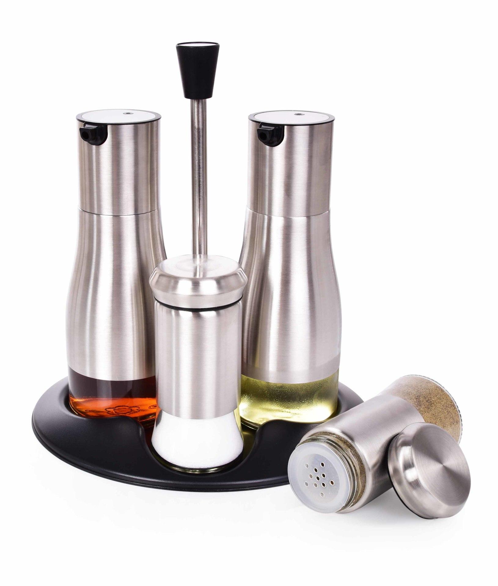 5 ks SADA na sůl, pepř, olej a ocet