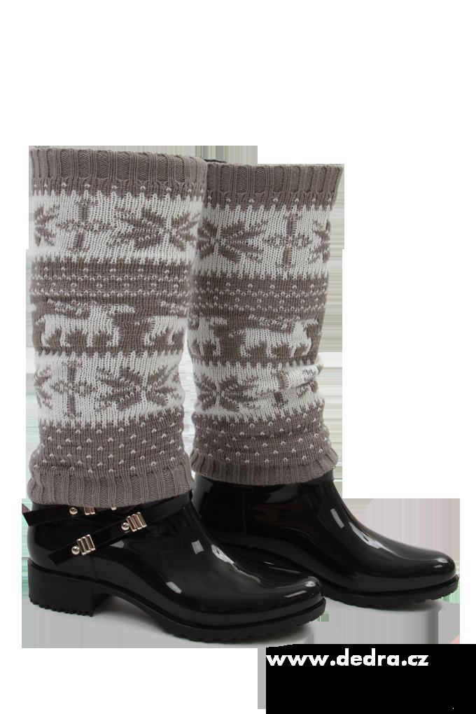 2 ks pletených, návleků na nohy
