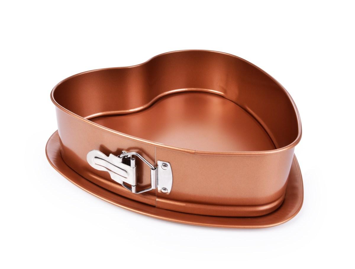 30 cm DORTOVÁ rozkládací forma SRDCE, BIOPAN® GOLD