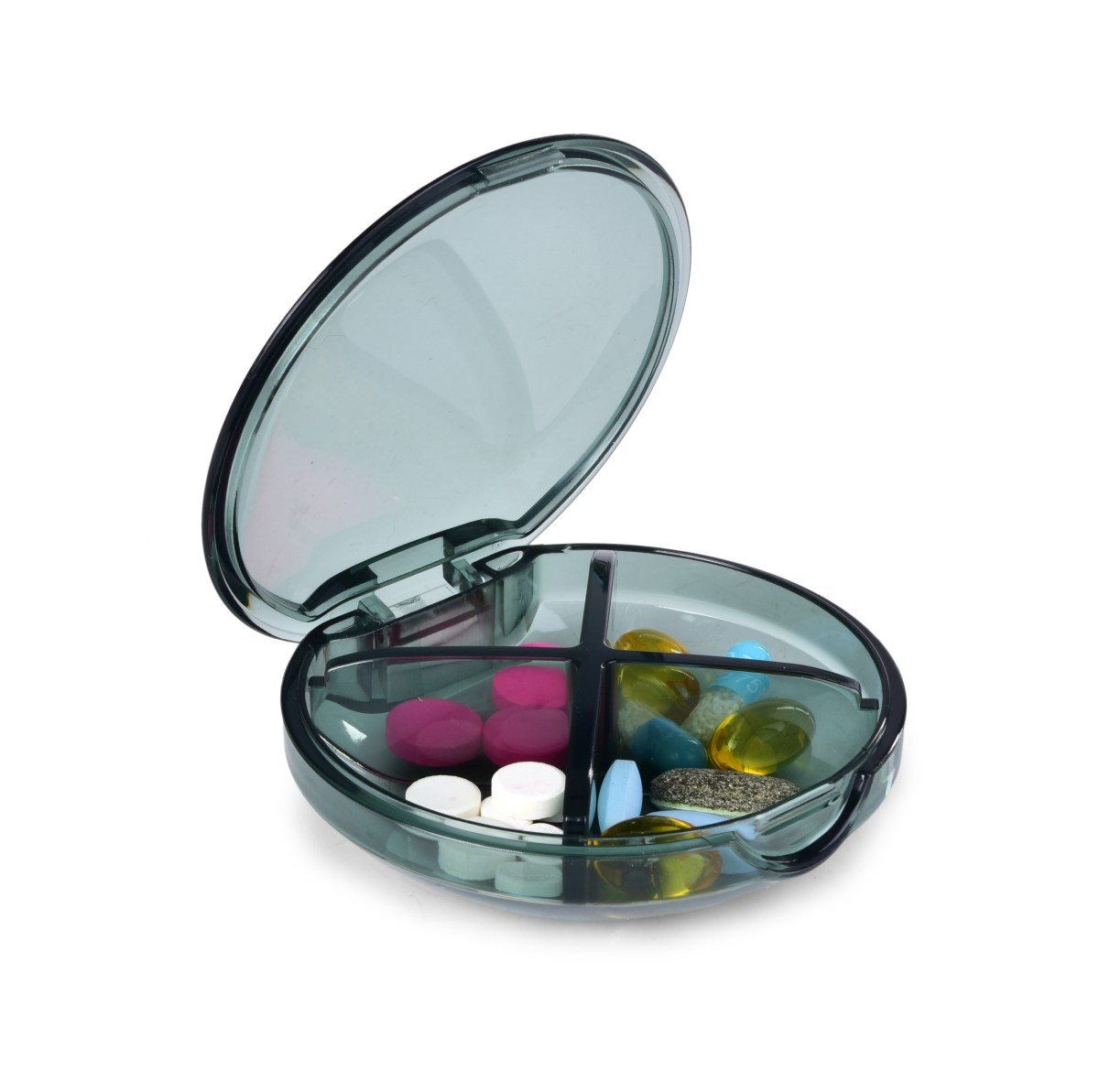 LÉKOVNÍK/VITAMÍNOVNÍK, průhledný zásobník na léky a vitamíny
