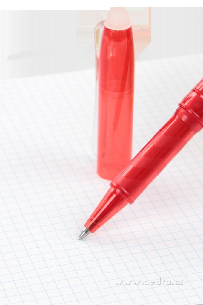 DA6116-GUMOVATELNÉ guľôčkové pero červené