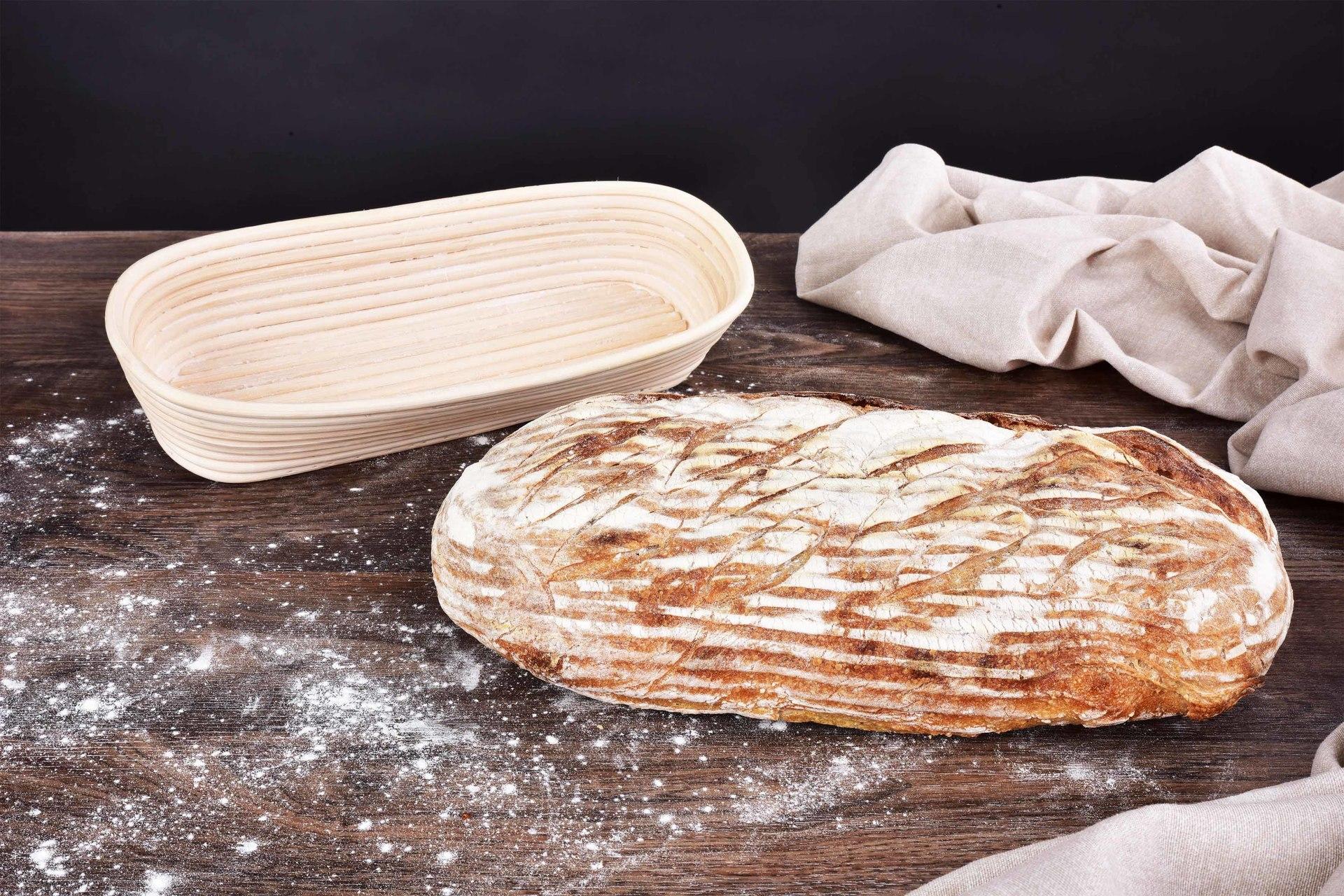 DA29352-35 cm DREVENÁ ošatka na chlieb, SEDLÁK, s látkovým poťahom