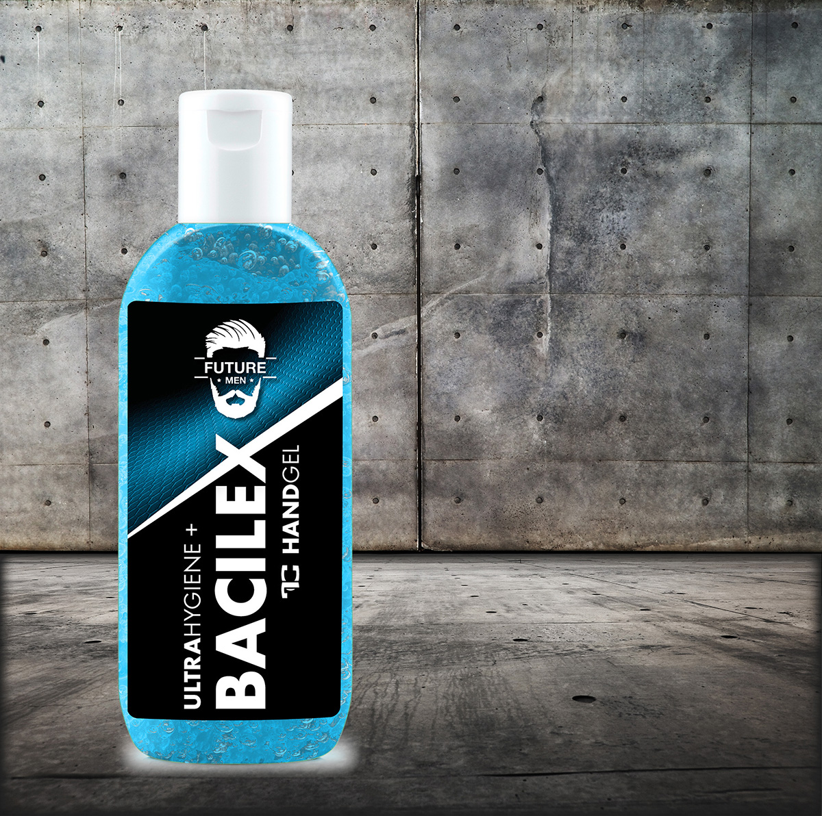 SADA 2 + 1 ZADARMO čistiaci gél na ruky PLATINUM, 65% alkoholu, handGEL BACILEX ultraHYGIENE +, 3x 100 ml