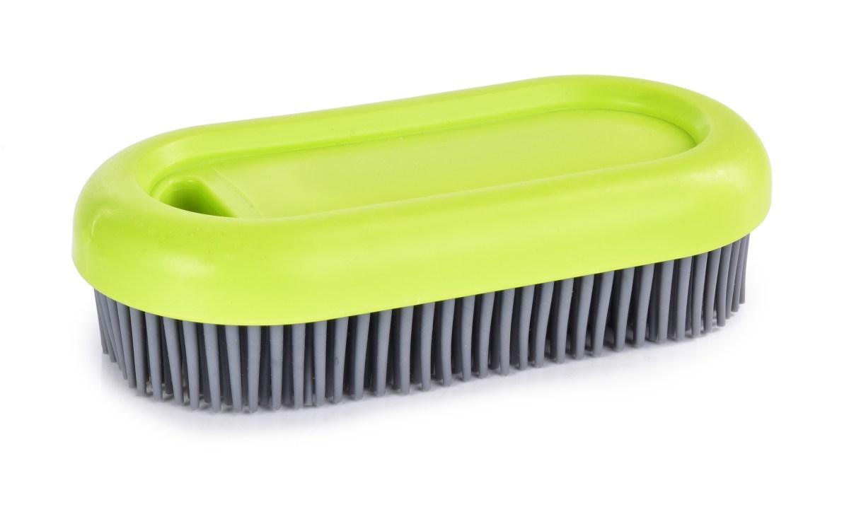 """""""Do¿ywotnia"""" SZCZOTKA z gumowym w³osiem, higieniczna, do czyszczenia i sprz±tania GoEco(R) 13,5 cm"""