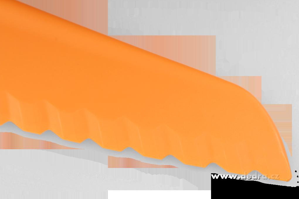 DA6019-Veľký plastový nôž na šaláty a cesta oranžový