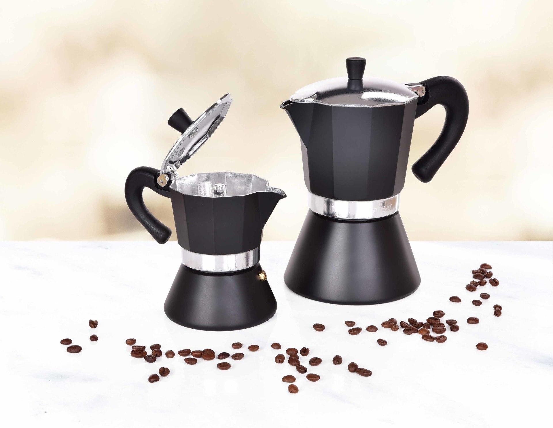 160 ml MOKA ESPRESSO přetlaková konvice pro přípravu kávy, 3 šálky