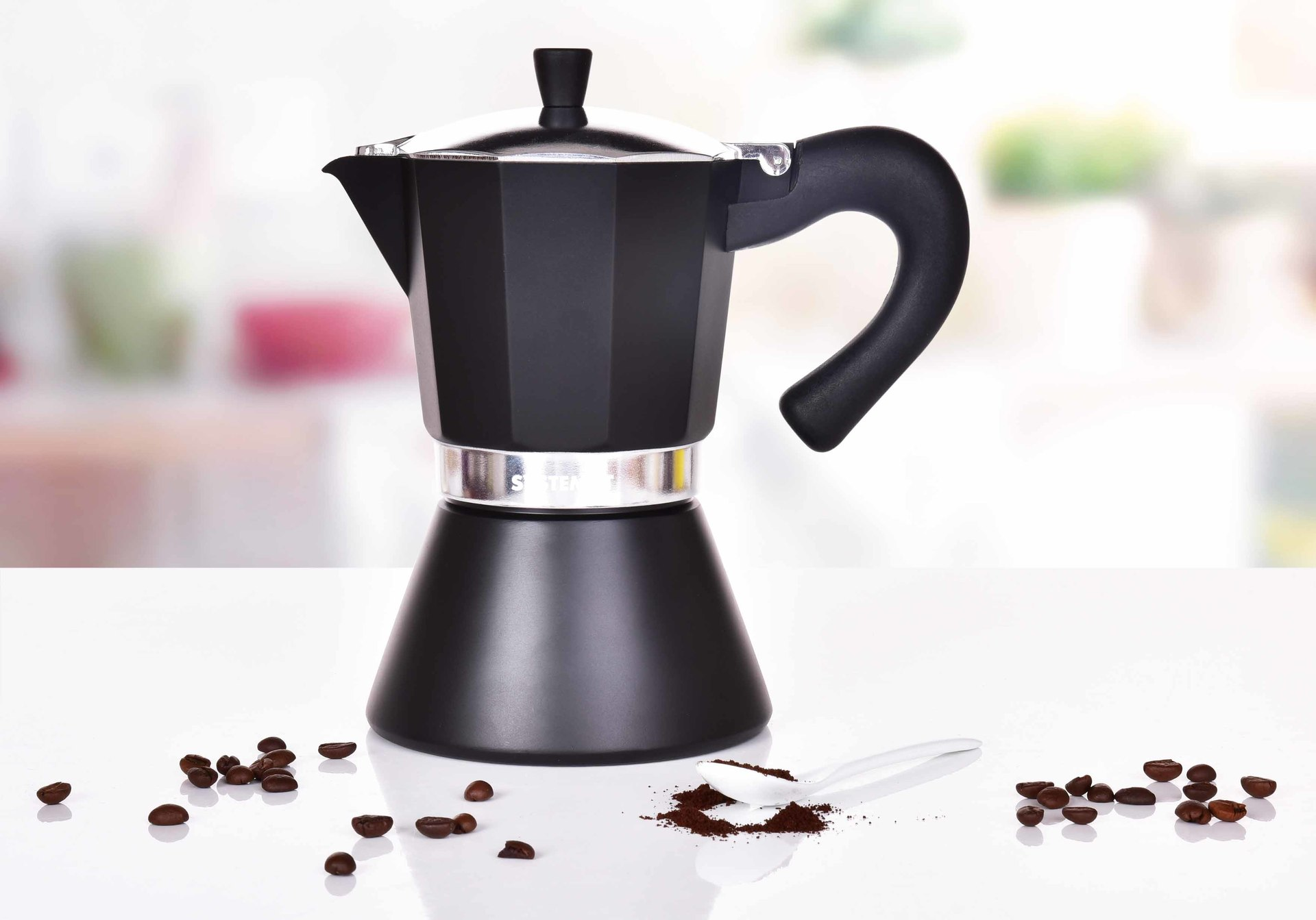 460 ml MOKA ESPRESSO přetlaková konvice pro přípravu kávy, na 9 šálků