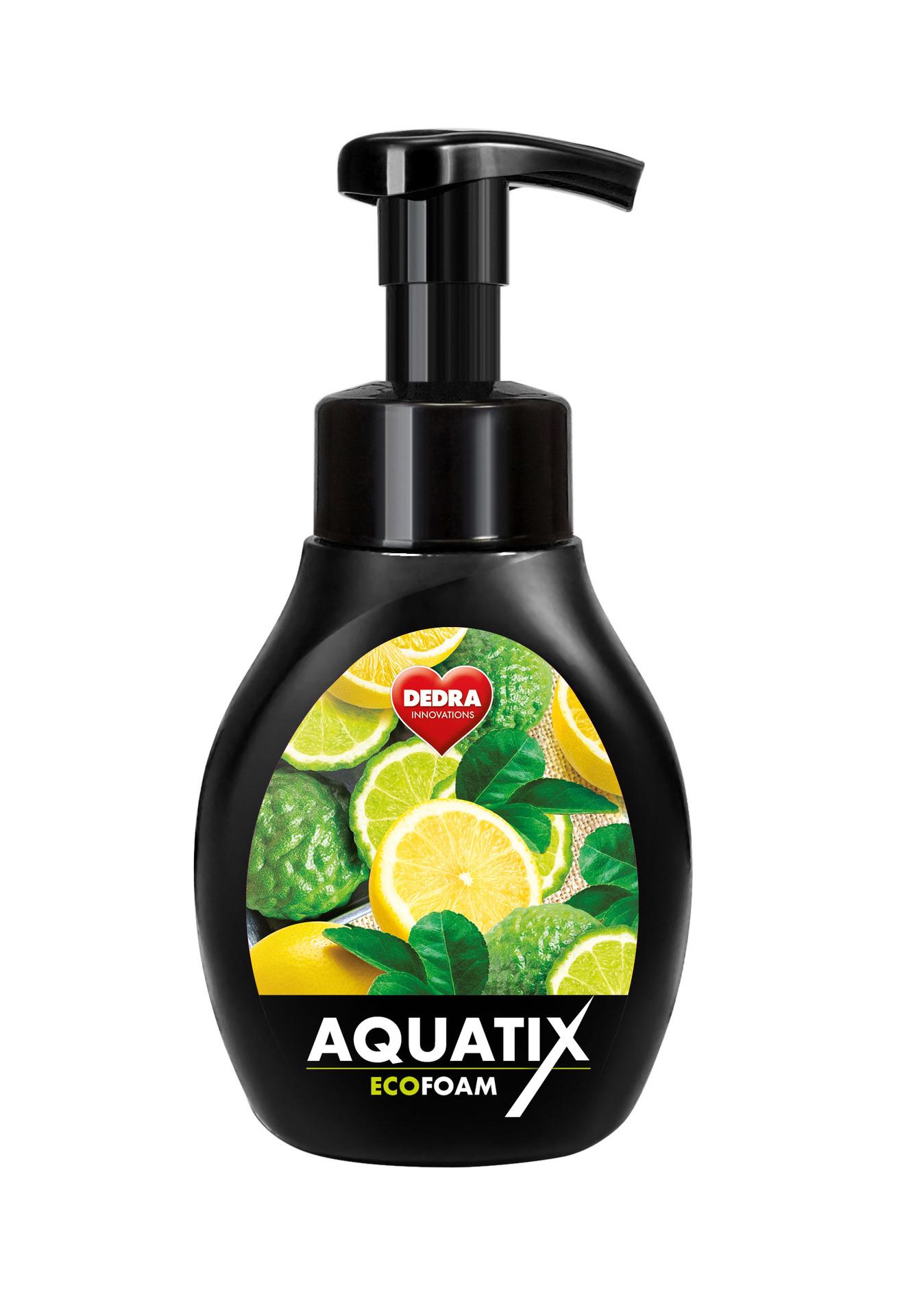 Aktivní pěna na ruční mytí nádobí AQUATIX EcoFoam bergamot & lemon