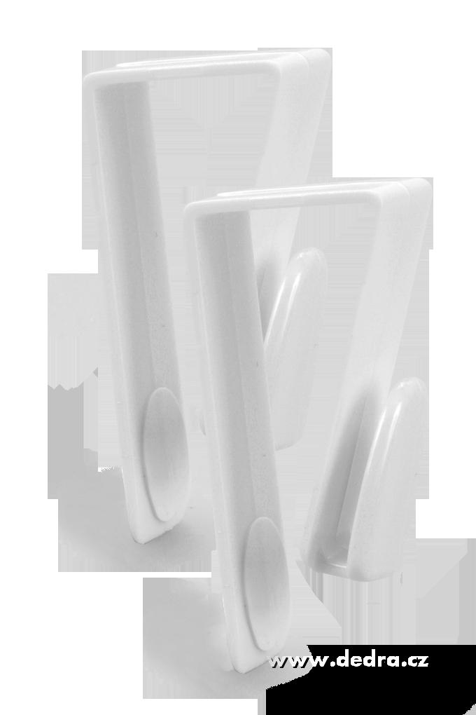 2 ks háčky na dvířka skříněk, skříní i na radiátory v koupelně délka 7 cm