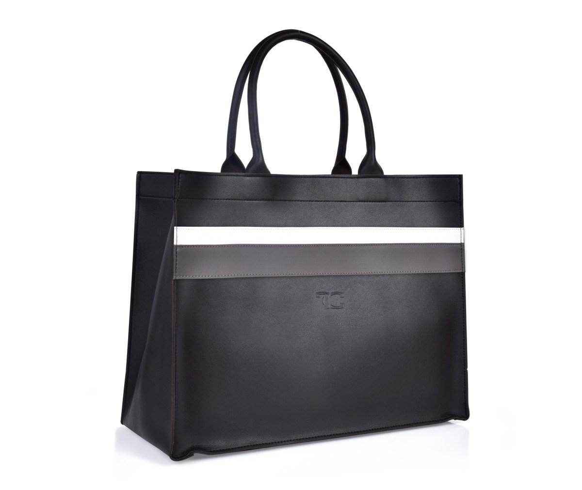 FC SHOPPER BAG elegancka torba/torebka w paski