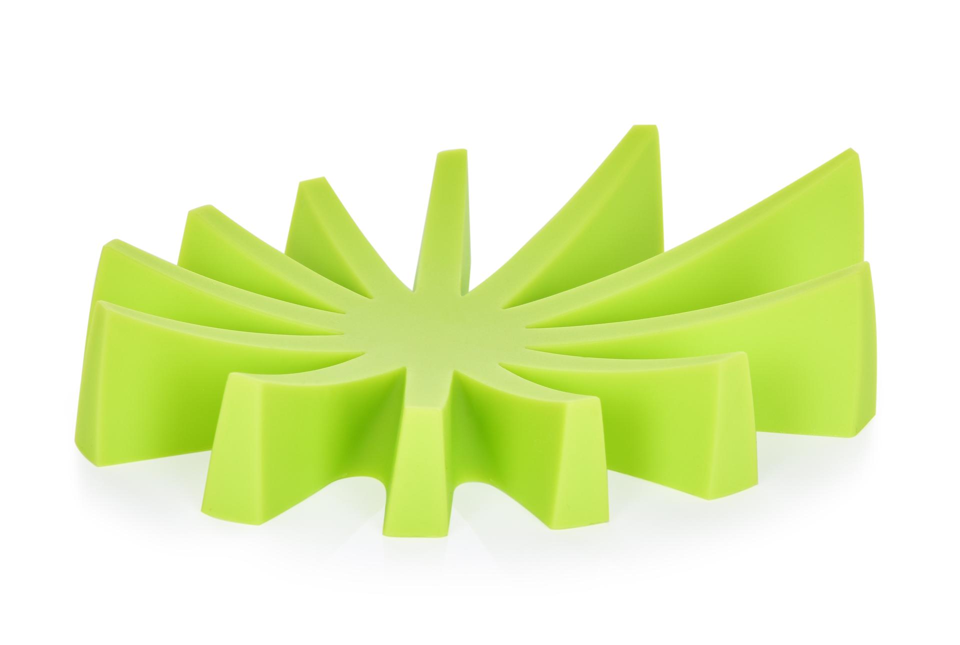 Mýdlovník zelený stojan na tuhá mýdla silikon