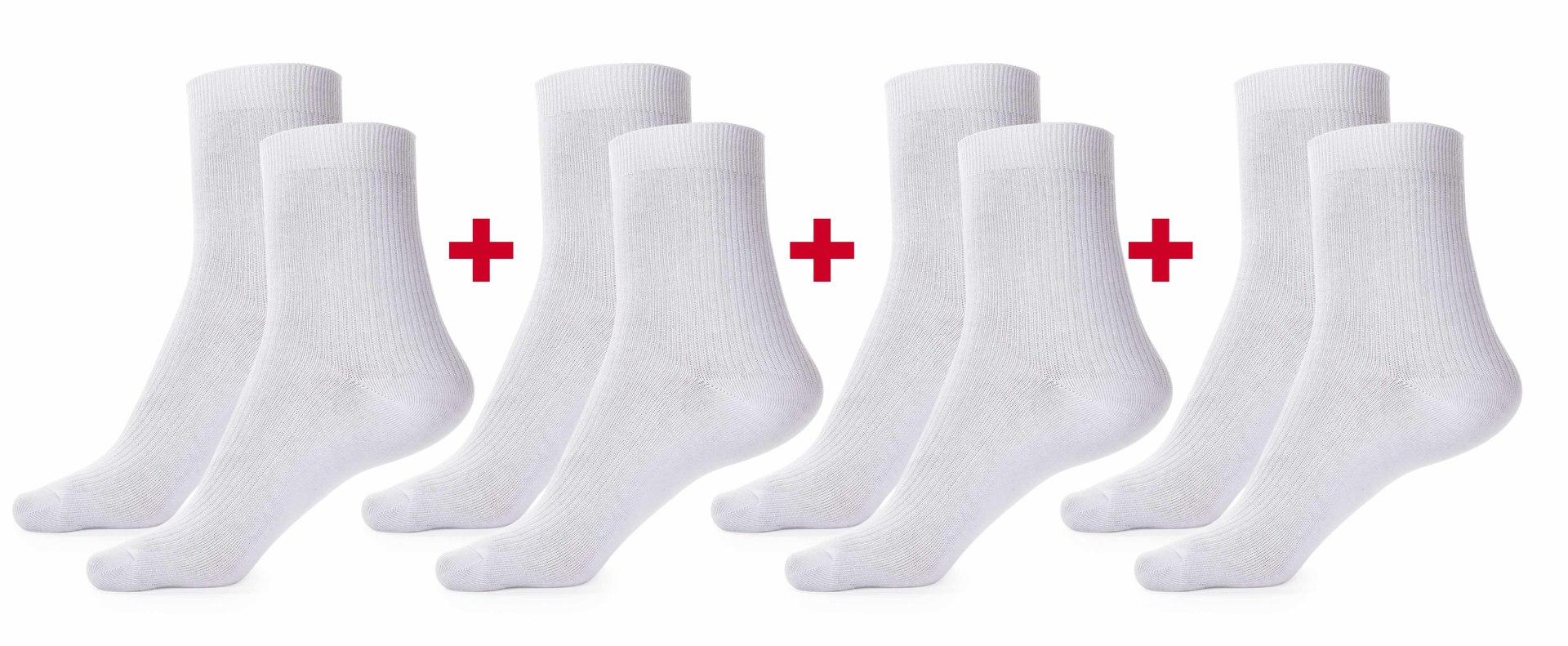 Sada 4 párů komfortních zdravotních ponožek   vel.1(34-38)