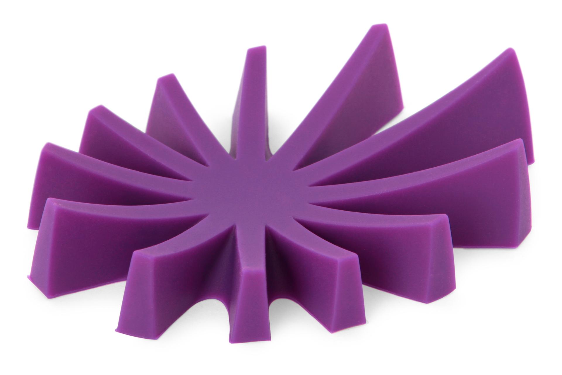 Mýdlovník fialový stojan na tuhá mýdla silikon