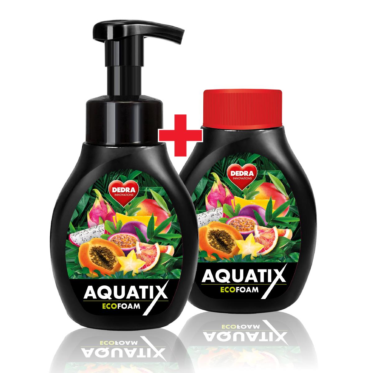 SADA 1+1 Aktivní pěna na ruční mytí nádobí AQUATIX EcoFoam ovocné smoothie