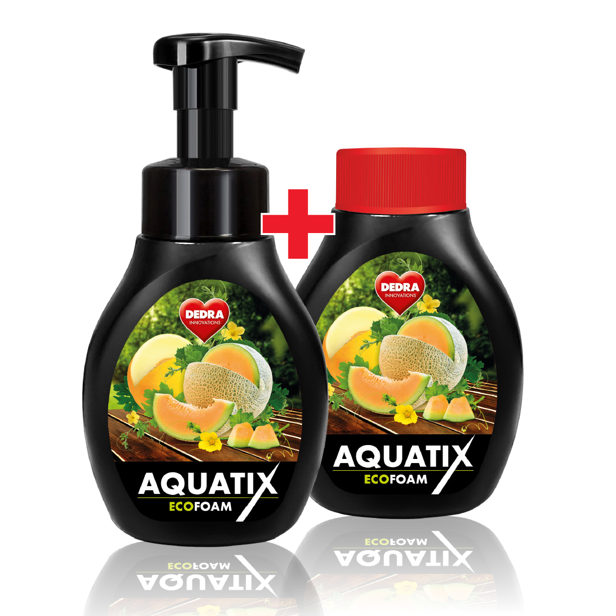 SADA 1+1 Aktivní pěna na ruční mytí nádobí AQUATIX EcoFoam meloun