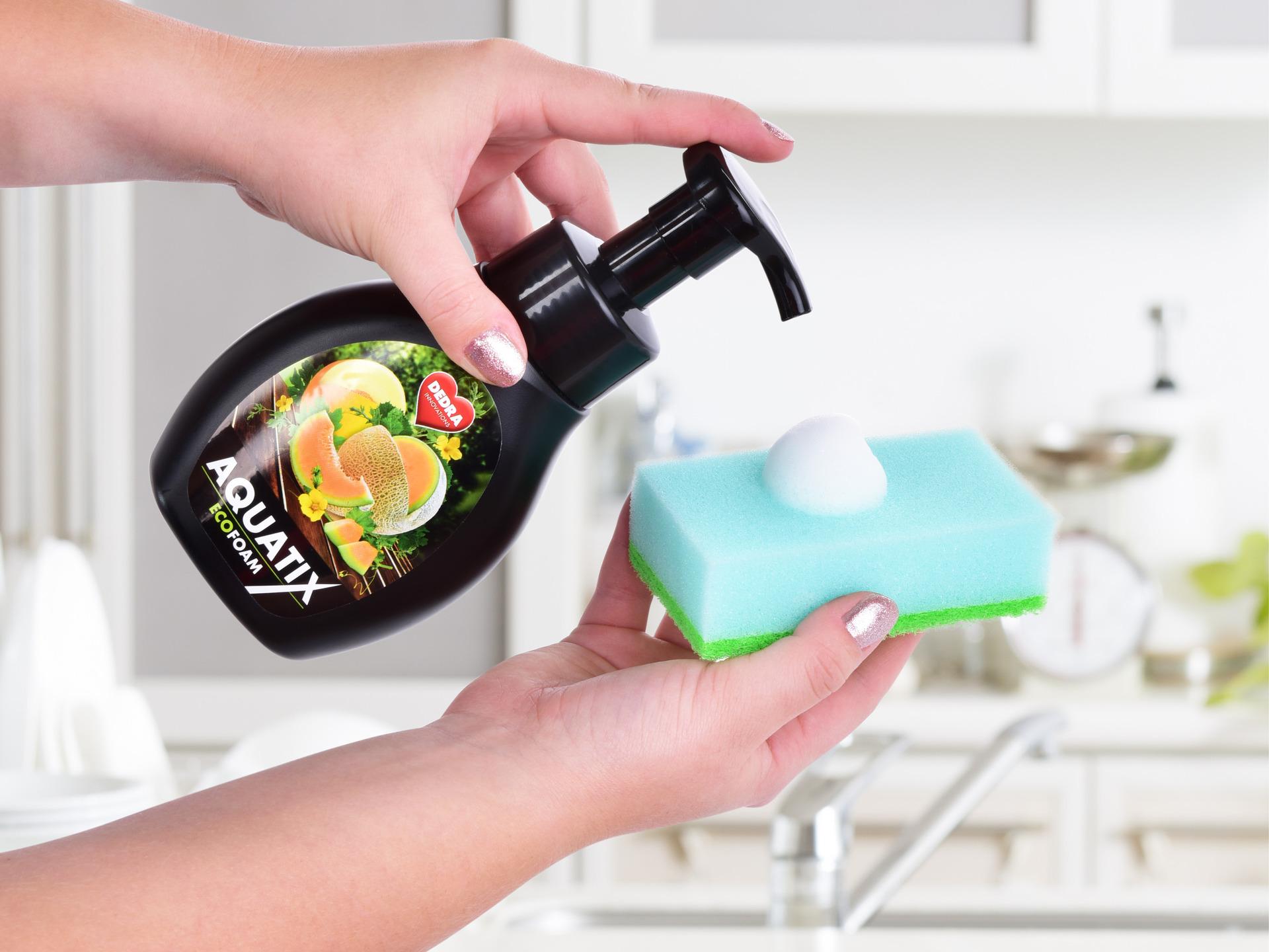 SADA 1+1 Aktivní EKO pěna na ruční mytí nádobí AQUATIX EcoFoam meloun