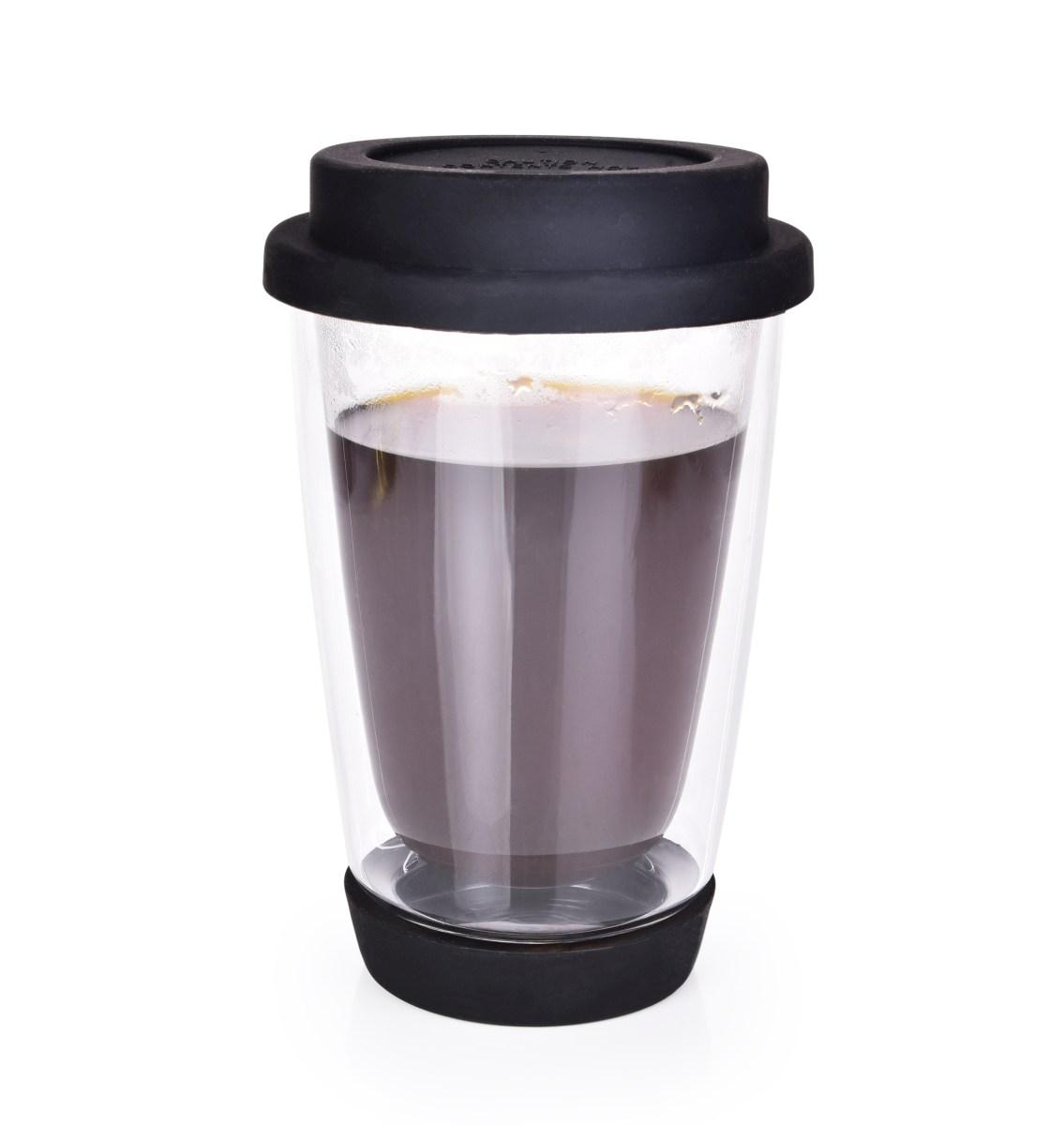 340 ml dvoustěnný skleněný termo hrnek BOROSIL KELIMERO® DOUBLE-GLASS