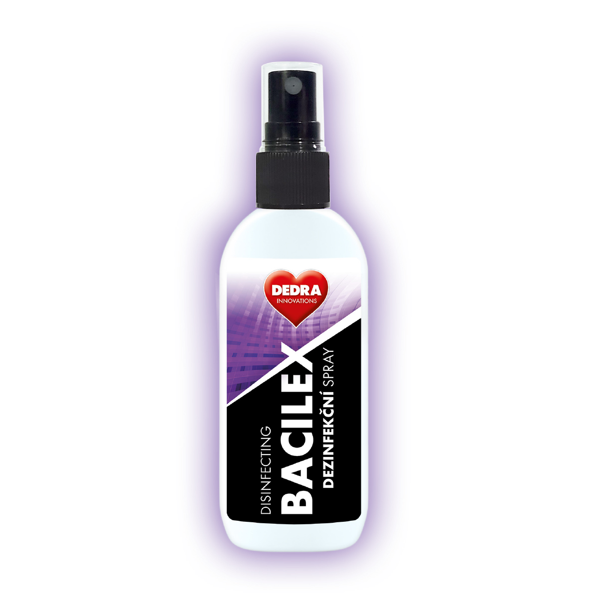 Certifikovaný dezinfekční spray, 71 % alkoholu, na plochy i respirátory, BACILEX® DISINFECTING SPRAY