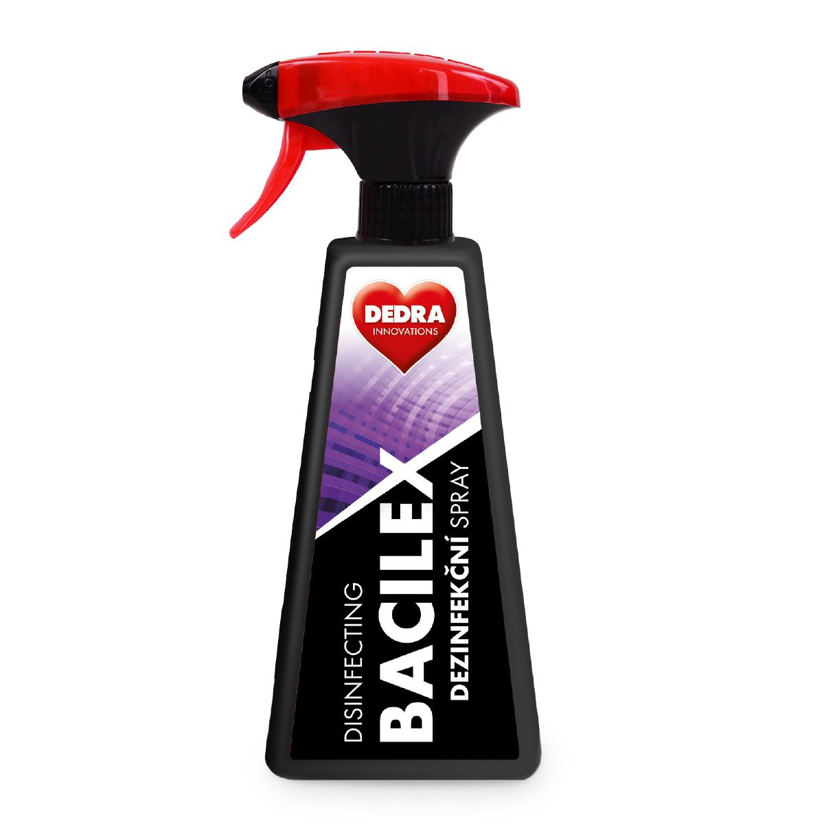 5 ks PROFI SADA certifikovaný dezinfekční spray, 71 % alkoholu, BACILEX® DISINFECTING SPRAY