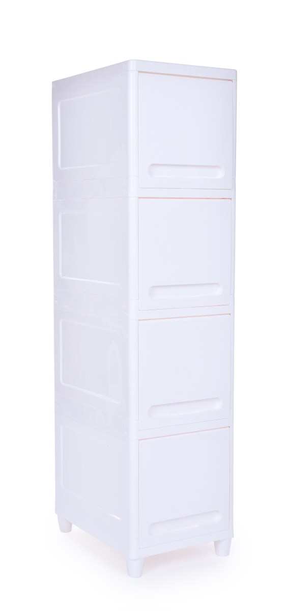 Regál, skříňka Oening regal se zavíracími policemi výška 117 cm