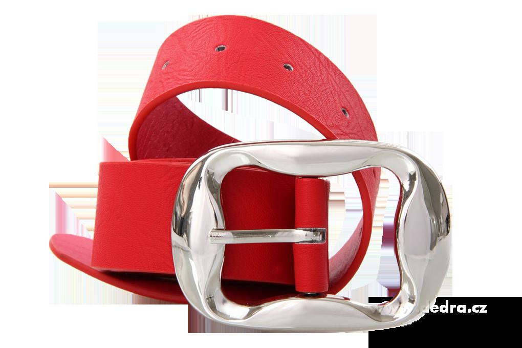 Dámský pásek z ekokůže,červený šířka: 4 cm délka 115 cm
