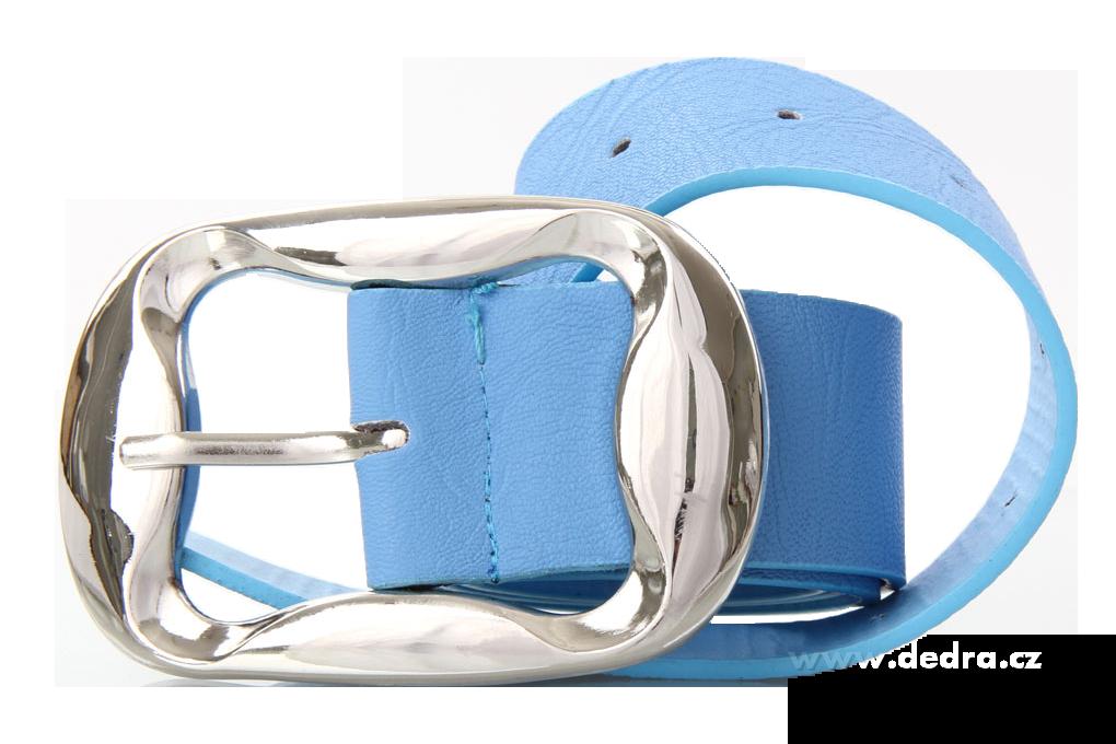 Dámský pásek, z ekokůže,modrý