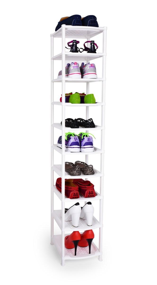 10 patrový vysoký regál na boty/botník,