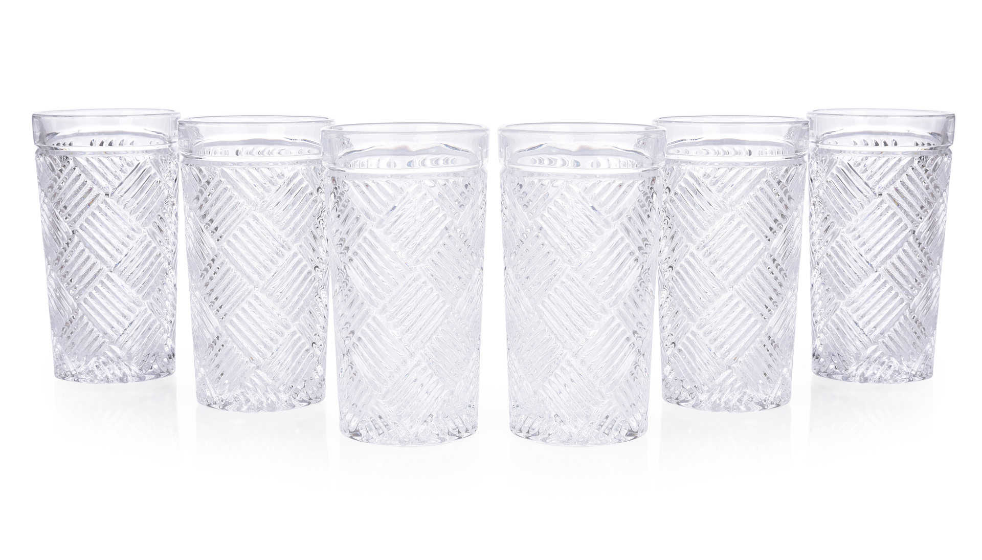 6 ks sada sklenice CRYSTAL CUBE