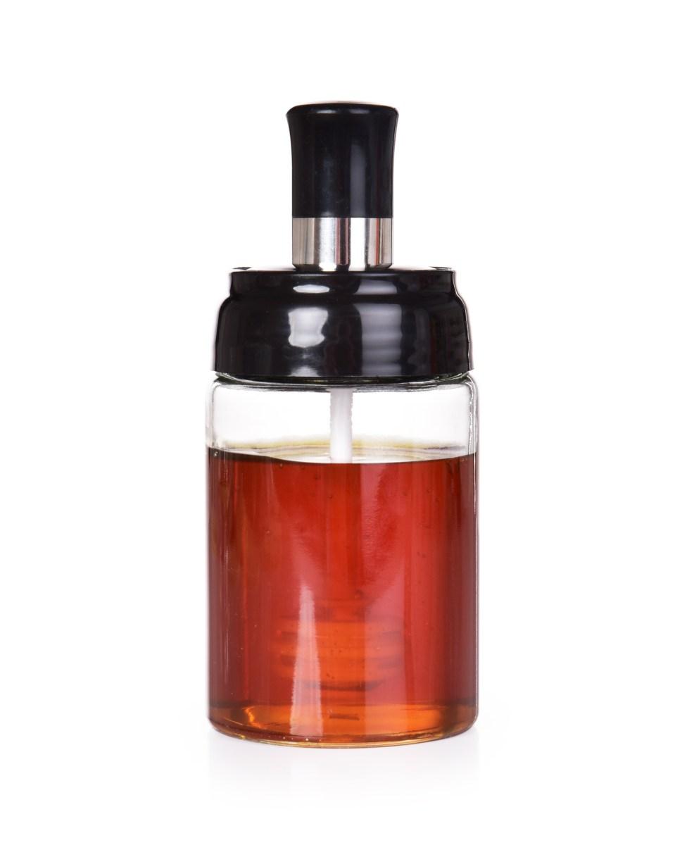 250 ml skleněná dóza na med MEDOMAT s integrovanou medolžičkou
