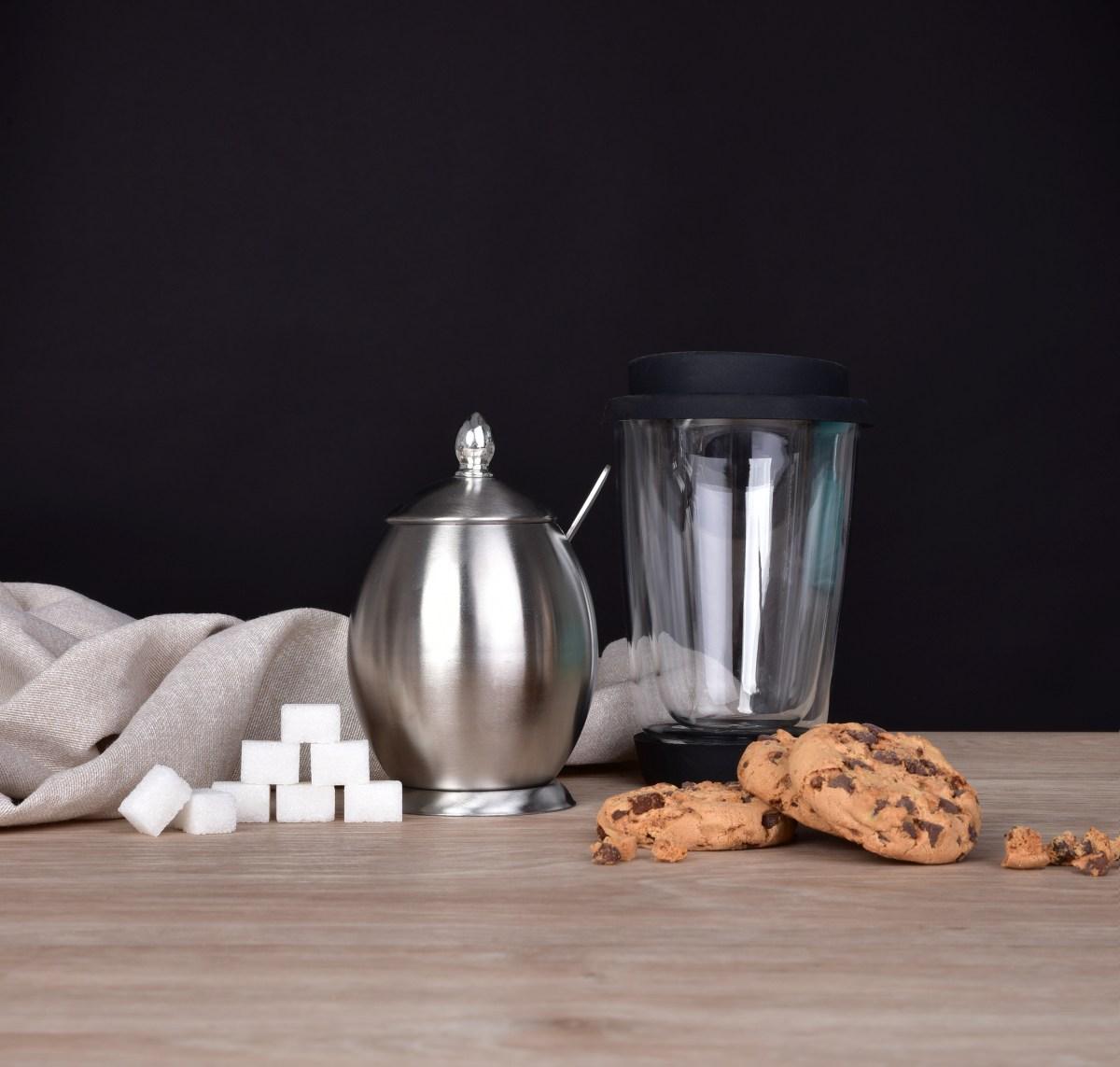 320 ml nerezová cukřenka se lžičkou a víčkem