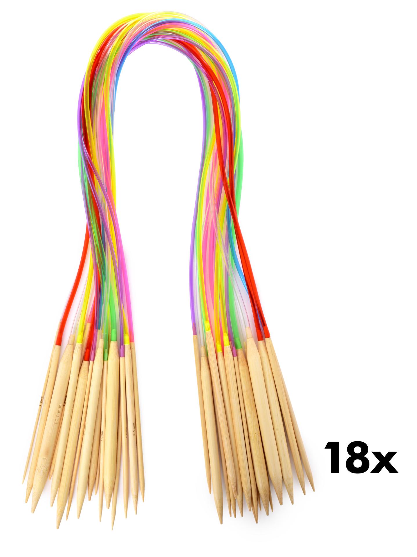 18 ks sada kruhových bambusových jehlic GoEco®