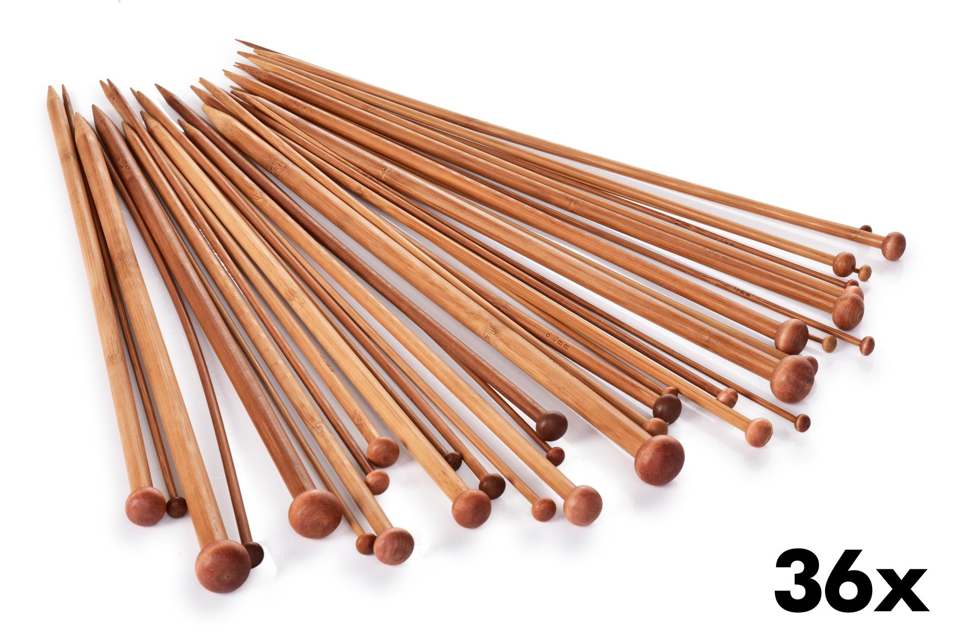 36 ks sada klasických bambusových jehlic GoEco®