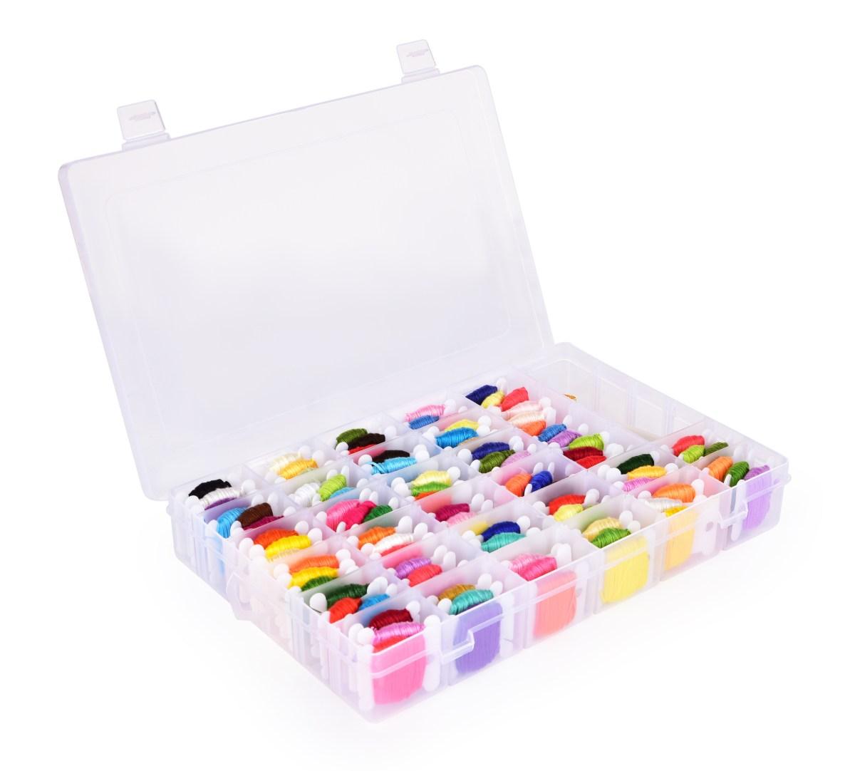 XL VELKÝ VYŠÍVACÍ BOX, sada 114 vyšívacích potřeb