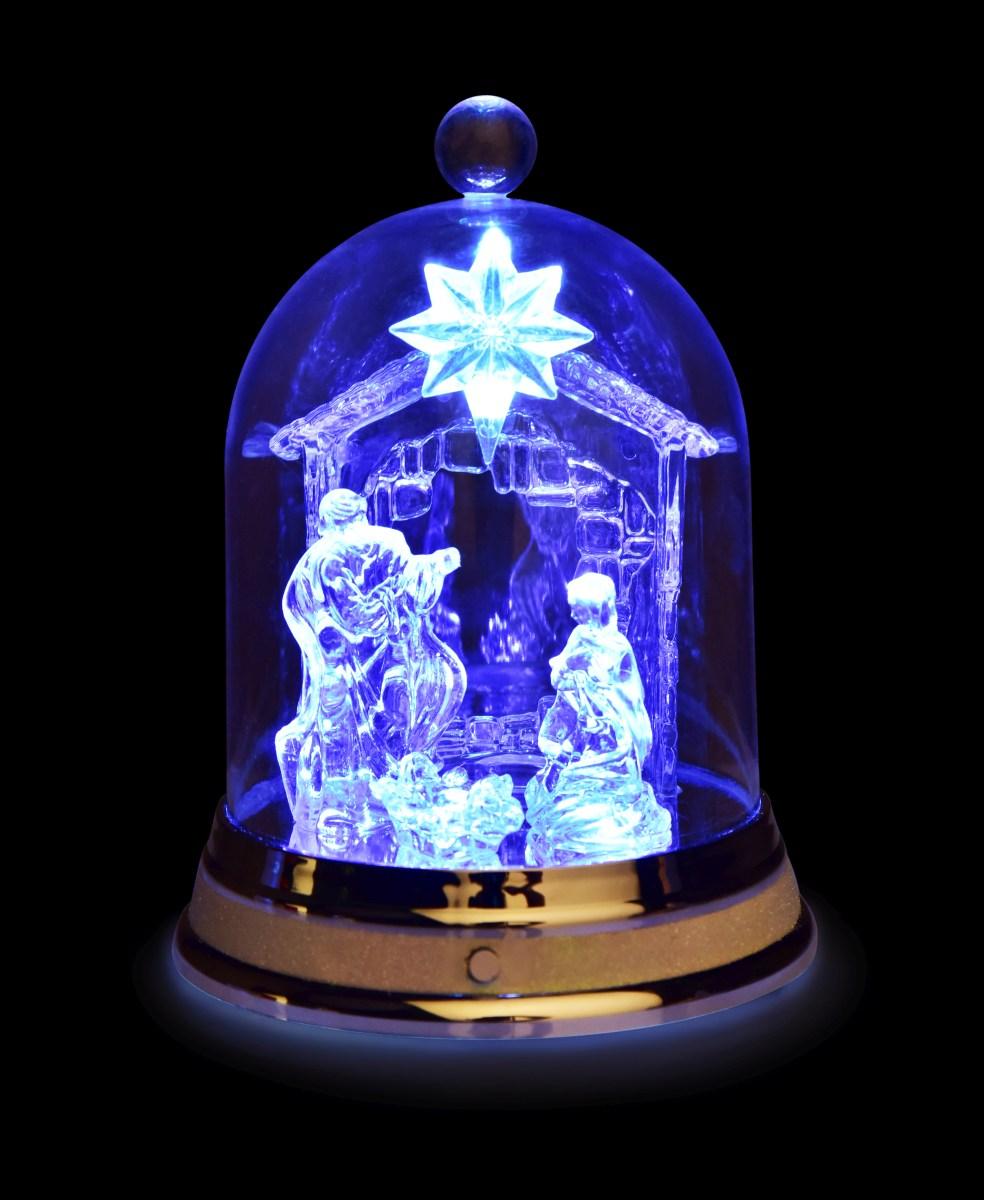 Dedra 21 cm LED svítící betlém uvnitř šturcu