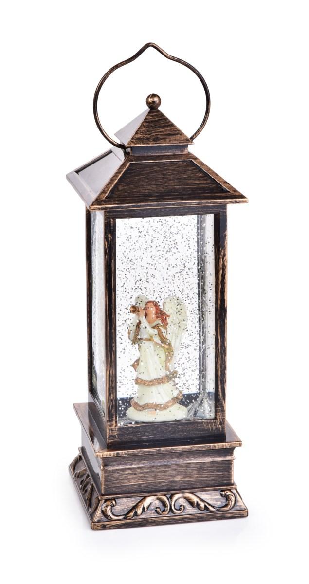 Dedra 30 cm LED svítící lucerna s andělem