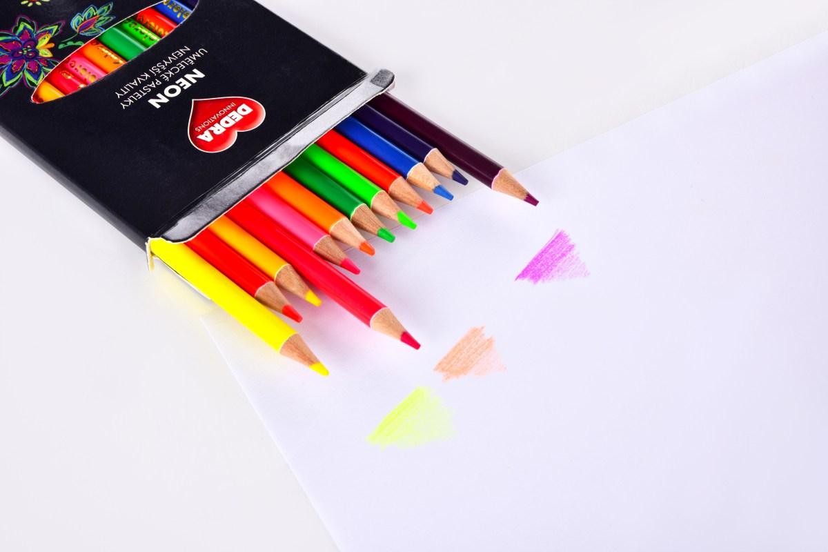 12 ks Neonově svítivé umělecké pastelky nejvyšší kvality,