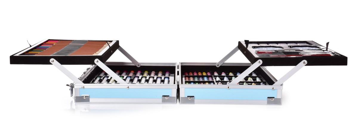 DA32801-Veľký rozkladací kufrík, 142 dielna sada umeleckých potrieb