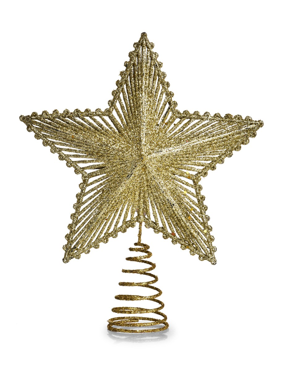 Dedra Špice na vánoční stromek ve tvaru hvězdy ZLATÁ