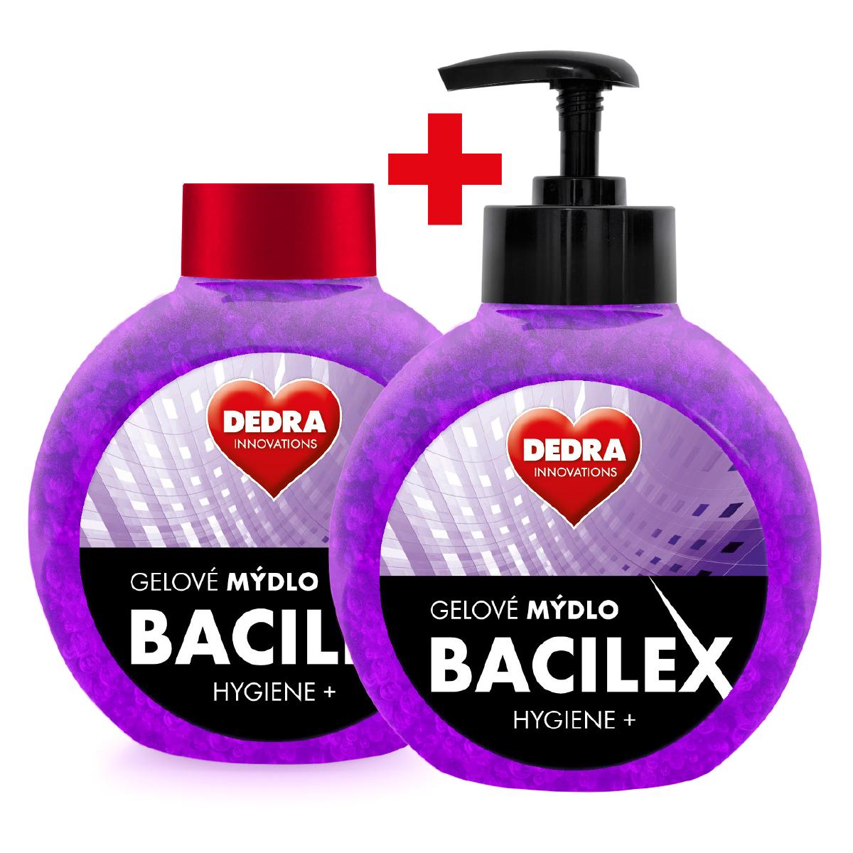 SADA 1+1 Gelové mýdlo s antimikrobiální přísadou, 500 ml, BACILEX® HYGIENE+