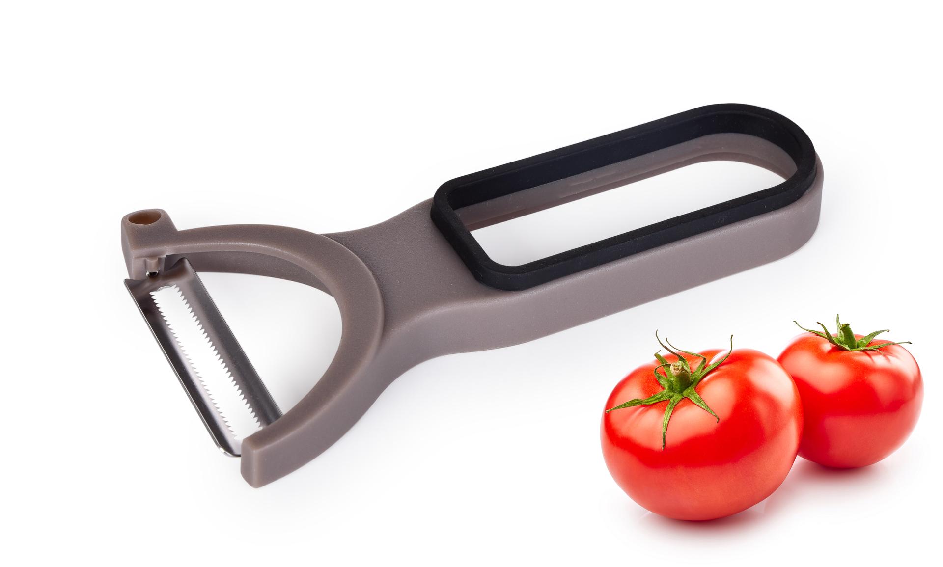 Škrabka s příčnou pilkovou čepelí na měkké plody