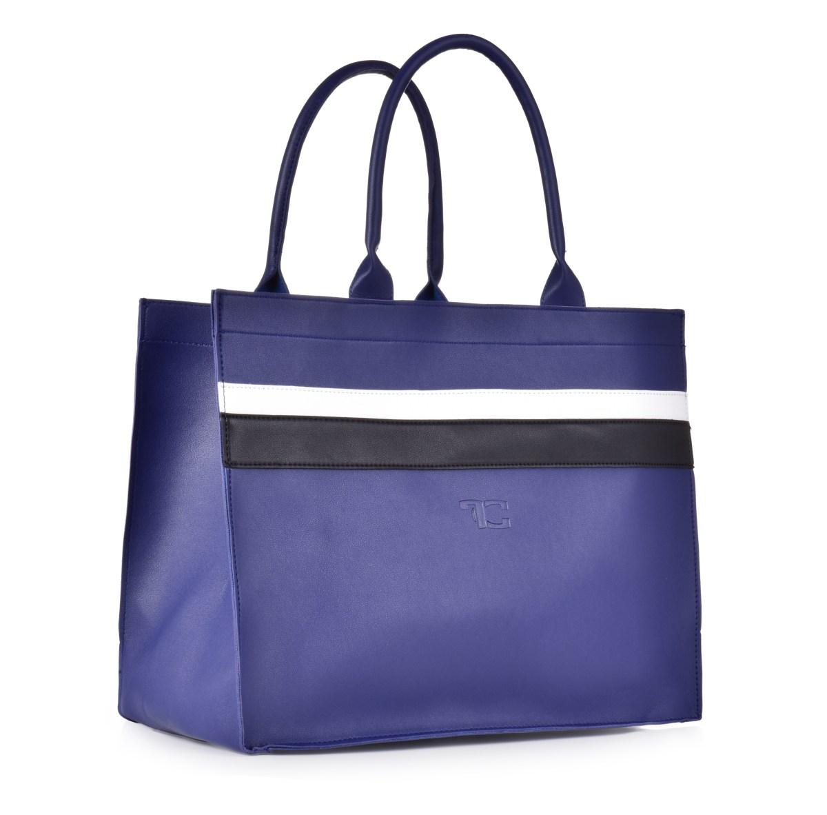 FC SHOPPER BAG elegantní taška s pruhy