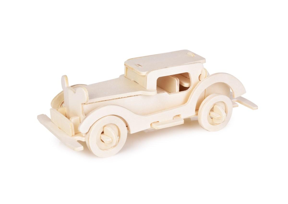 18 cm 3D skládací dřevěná stavebnice AUTO