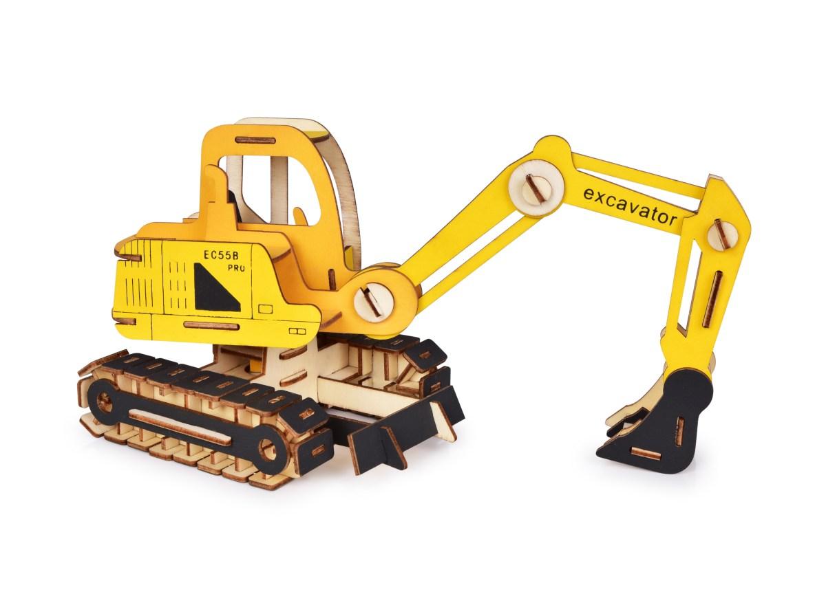 34 cm 3D skládací dřevěná stavebnice BAGR